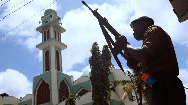 Wenn Islamistische Extremisten Muslime bekämpfen: Auf dem Platz vor der grössten Moschee in Mombasa wurde vor zwei Jahren deren Imam erschossen.