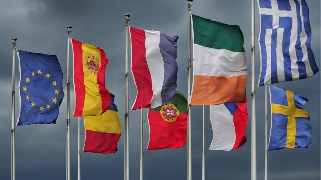 Europäische Flaggen in EU