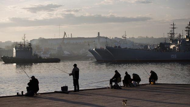 Schwarzmeerflotte in Sevastopol, Krim.