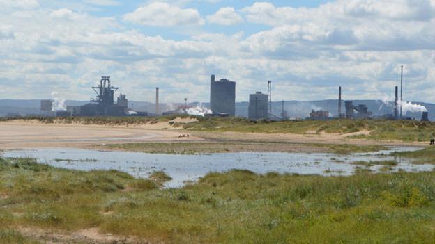 Das SSI-Stahlwerk in Redcar, ein kleiner Rest einer grossen Tradition in Teesside. Einst arbeiteten auf dem Gelände 30'000 Stahlarbeiter, heute 2'200.