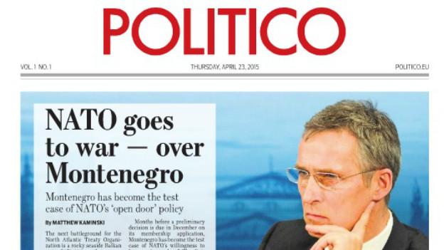 Jens Stoltenberg ziert das Cover der ersten EU-Ausgabe von Politico.