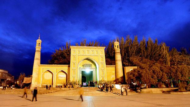 Moschee in Kashgar, nordwestlich von Chinas Region Xinjiang.