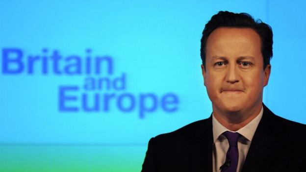 Cameron bei der Rede vor zwei Jahren, als er ein Referendum angekündigte über die EU-Mitgliedschaft seines Landes.