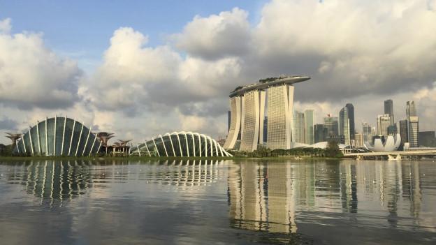Silhouette von Singapur