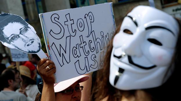 Demonstranten zum US-Abhörskandal