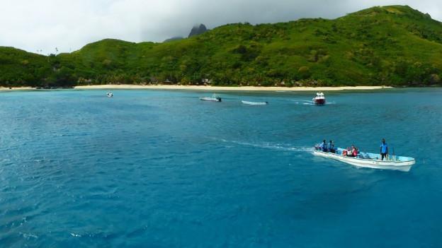Aufnahme der Yasawa-Inselkette auf Fidschi.