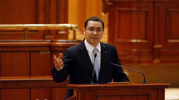 Zu sehen ist der rumänische Regierungschef Victor Ponta.