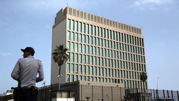 Auf dem Bild ist die US-Botschaft in Havanna zu sehen - die am Montag, 20. Juli 2015, eröffnet wird.