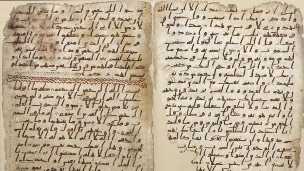 Zwei Seiten beschriebenes Pergament