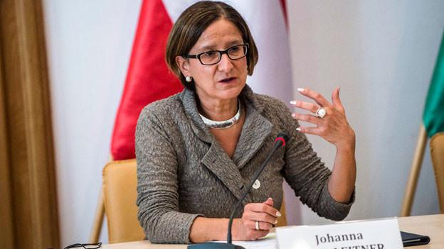 Die Innenministerin von Österreich, Johanna Mikl-Leitner.