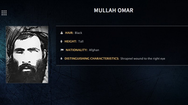 Aufnahme des Fahndungsfotos zu Talibanführer Mullah Omar.
