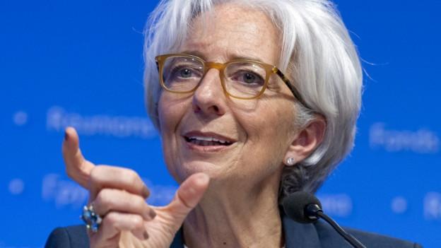 IWF-Chefin Lagarde im Gespräch.