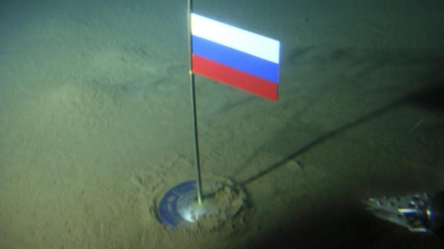 Die russische Fahne wurde bereits im Jahr 2007 in der Arktis gehisst