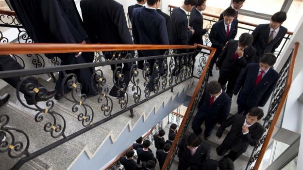 Aufnahme von Studenten der Pyöngjang University of Science and Technology.