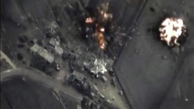 Bilder zu den russischen Luftschlägen in Syrien vom russischen Verteidigungsministerium.