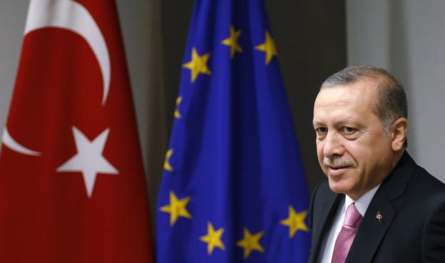 Der türkische Präsident Erdogan am 5. Oktober in Brüssel