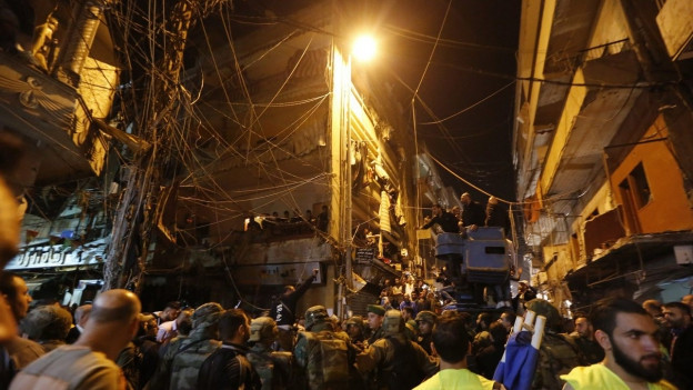 Bilder des verwüsteten Stadtviertels in Beirut