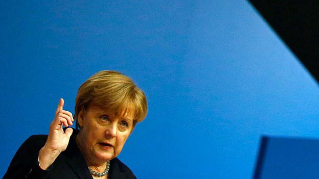 Angela Merkel während ihrer Rede am CDU-Parteitag.