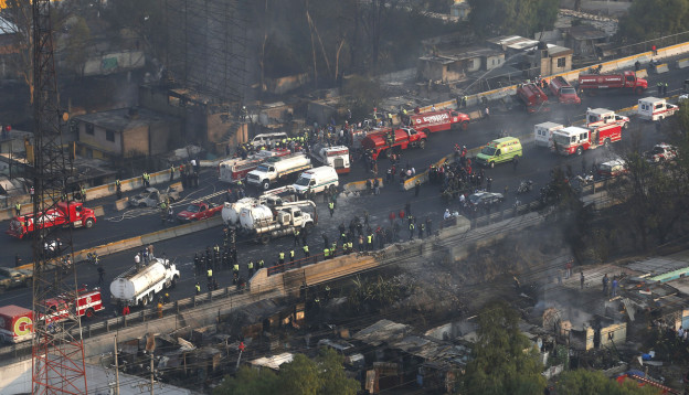 Tanklastwagen-Unfall in Mexiko.