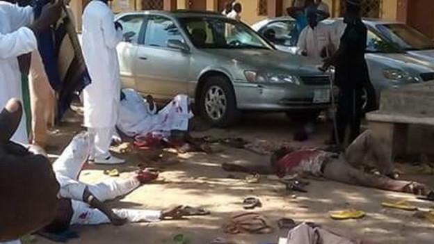 Opfer nach einem Bombenanschlag im Oktober in Nigeria.