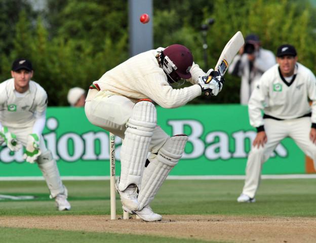 Der australische Cricketspieler Chris Gayle im Einsatz.