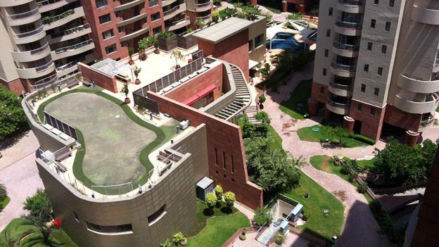 Wohnsiedlung World Spa in Gurgaon, Indien.