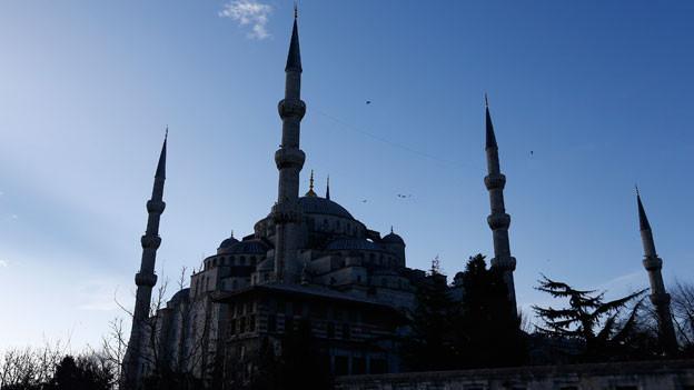 Nach der Unterzeichnung einer Petition mit scharfer Kritik am Vorgehen der Regierung in den Kurdengebieten sind 20 Akademiker festgenommen worden. Bild: Blaue Moschee in Istanbul.