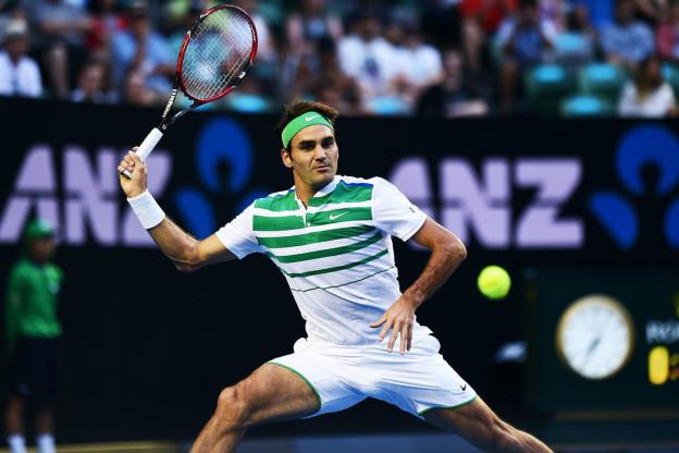 Roger Federer bei seinem Auftaktsieg am Australian Open 2016.