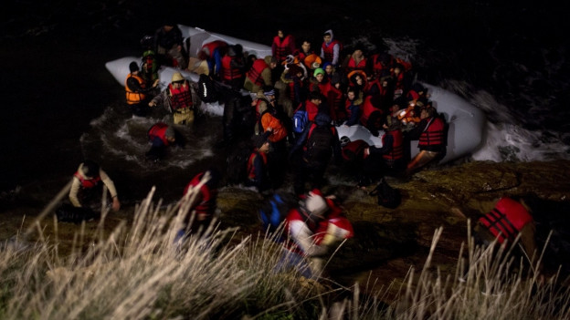 Bootsflüchtlinge in der Ägäis