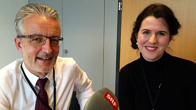 Rolf Butz und Daniela Kirin.