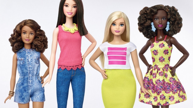 Die neuen Barbie-Puppen von Mattel haben zum Teil mehr Pölsterchen oder sind auch etwas kleiner.
