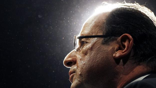 François Hollande während einer Rede.