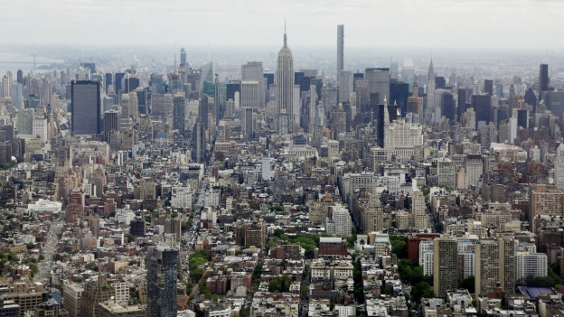 Eine Sicht auf die Stadt New York von weit oben