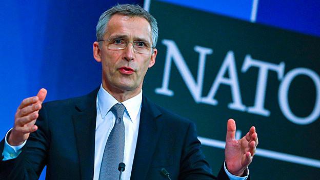 Nato-Generalsekretär Jens Stoltenberg während einer Medienkonferenz in Brüssel.