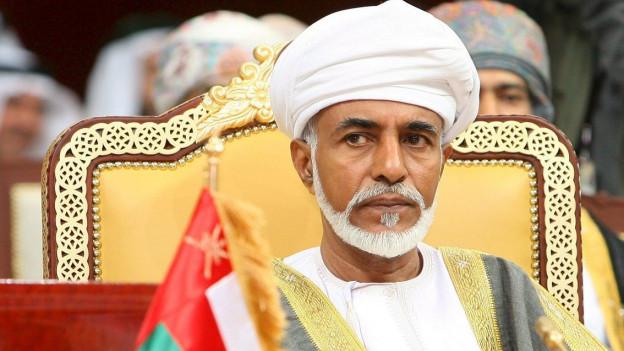 Sultan Kabus an einer Sitzung des Golf-Kooperationsrats im Dezember 2007.
