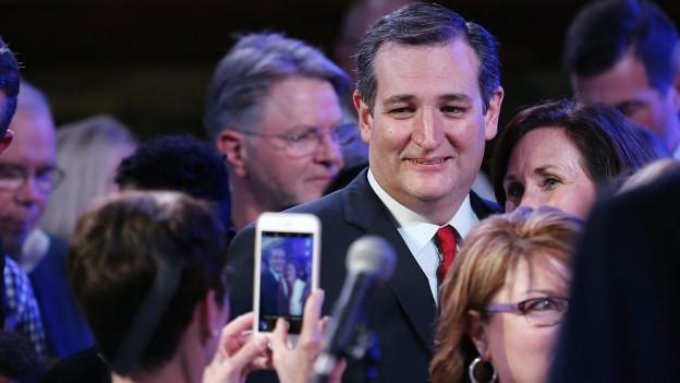 Ted Cruz an einer Wahlkampfveranstaltung vor dem Super Tuesday.
