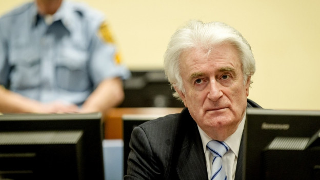 Radovan Karadzic im Gerichtssaal.