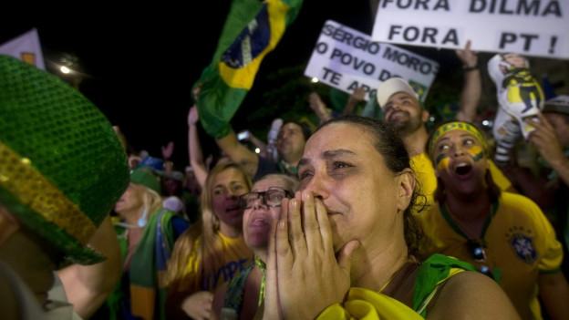 Anti-Regierungs-Demonstranten in Rio de Janeiro.
