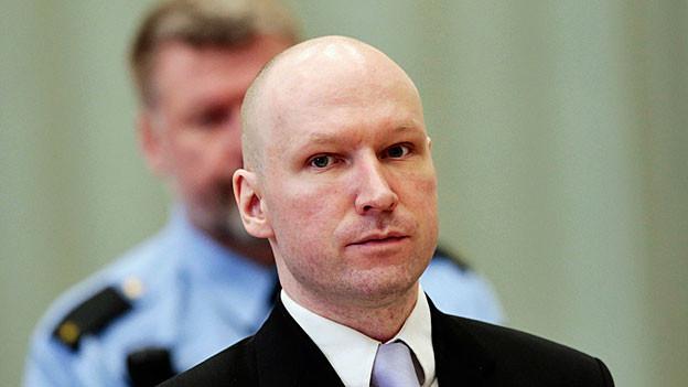 Anders Behring Breivik vor Gericht.