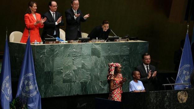Blick ins UNO-Hauptgebäude, wo der Klimavertrag unterzeichnet wurde.