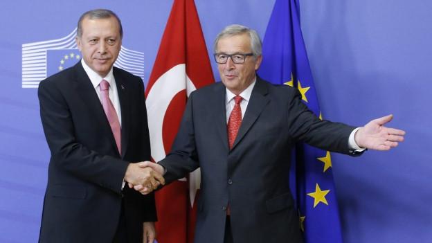 Türkischer Präsident begrüsst den EU-Kommissionspräsidenten