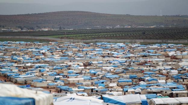 Ein Flüchtlingslager in Syrien.