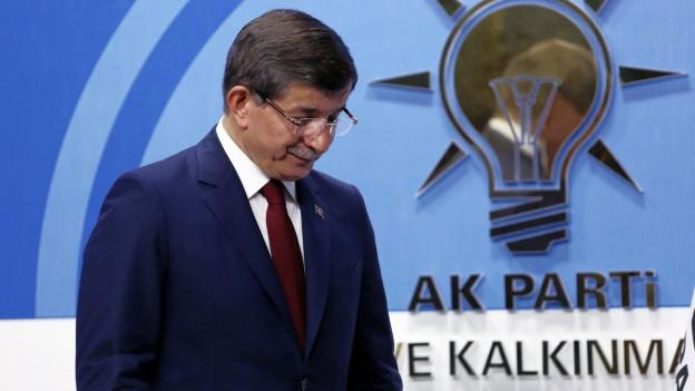 Der türkische Ministerpräsident Ahmed Davutoglu.