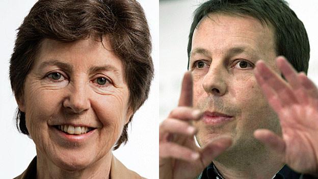 Kathy Riklin und Daniel Häni. Portraitbilder.