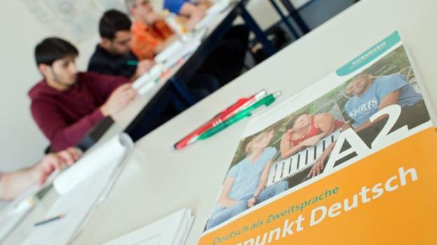 Schüler eines Integrationskurses an einer Sprachschule in Hannover.