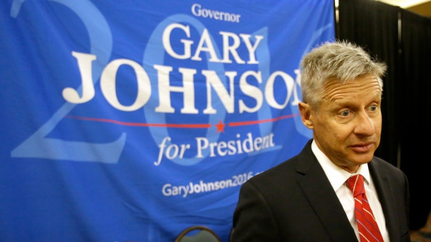 Gary Johnson von der Libertarian Party.