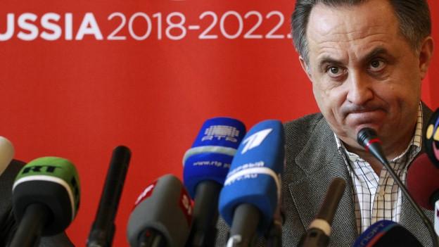Im Fokus von Doping- und Korruptionsvorwürfen: Zu sehen ist Russlands Sportminister Witali Mutko.