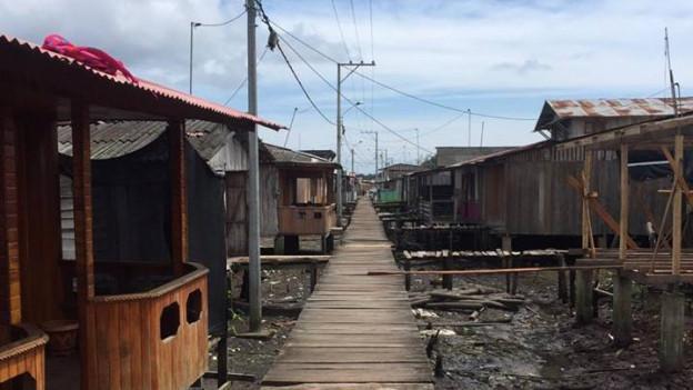 Tumaco - eine Stadt in Kolumbien. Wird nach wie vor von FARC-Rebellen beherrscht.