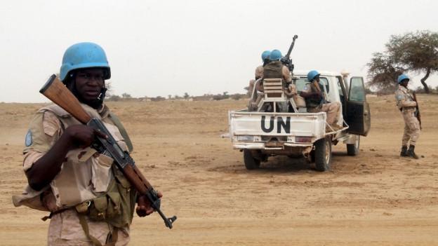 UN-Blauhelme bei ihrer Mission in Mali.