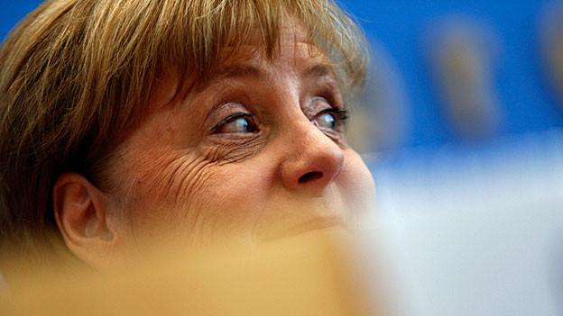 Angela Merkel während der Medienkonferenz in Berlin.